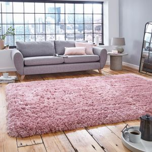 Think Rugs Polar PL 95 Rose Thick Shaggy Rug