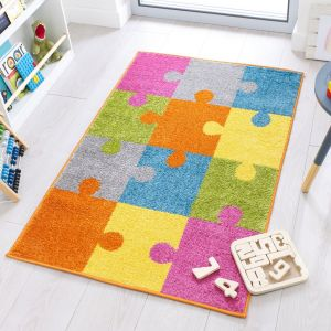 Play Days Jigsaw Brights Multi Kids Rug by Flair Rugs