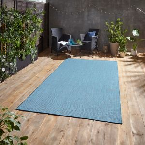 POP! Outdoors Blue Rug by Think Rugs