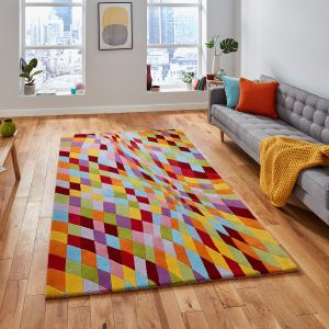 Prism PR101 Multi Wool Rug By Think Rugs