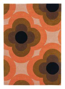 Pulse 060305 Pink Wool Rug by Orla Kiely