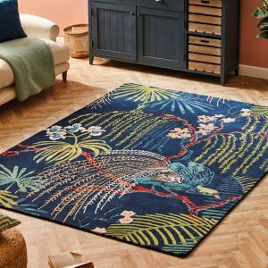 Rain Forest 050708 Tropical Night Hand Tufted Wool Rug by Sanderson