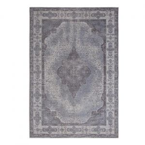 Retro Ash Grey Traditional Rug by ITC