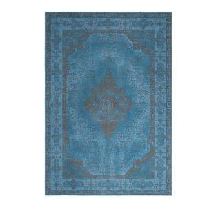 Retro Azur Blue 1 Traditional Rug by ITC