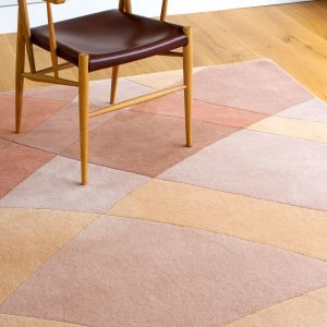 Rhythmic Tides Sand Handtufted Wool Rug by Claire Gaudion