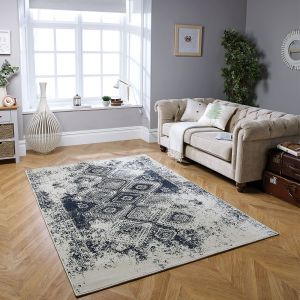 Richmond 5996 S Denim Blue Traditional Rug by Oriental Weavers