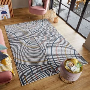 Rio Helix Multi Abstract Rug by Flair Rugs