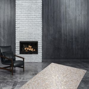 Rocket 110 Ivory/Gold Modern Rug by Kayoom
