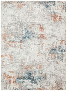 Rossa ROS04 Grey Multi Abstract Rug by Concept Looms