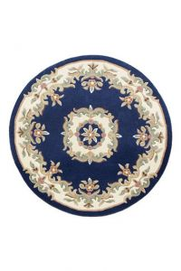 Royal Blue Traditional Circle Rug by Oriental Weavers