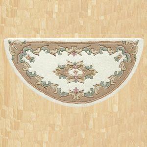 Royal Jewel JEW03 Cream Beige Half Moon Traditional Rug By Oriental Weavers