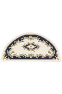 Royal Cream/Blue Traditional Half Moon Rug by Oriental Weavers