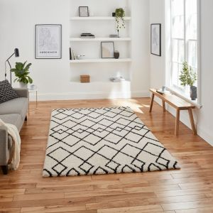 Royal Nomadic A638 White Black Rug by Think Rugs