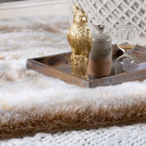 Rumba RUM 760 Beige Shaggy Rug by Obsession