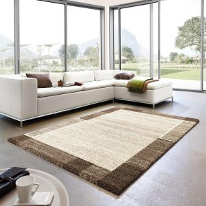 Samoa 152 060 Border Brown Rug By Golze 1