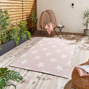 Santa Monica 48648 Rose Cream Rug by Think Rugs