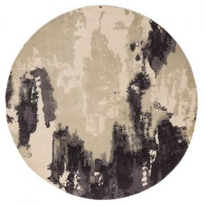 Saturn Heather Wool Circle Rug by Asiatic