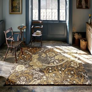 Seaweed 127006 Charcoal Mustard Abstract Rug by Morris & CO.