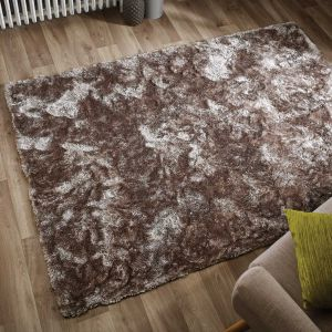 Serenity Mink Shaggy Rug by Flair Rugs