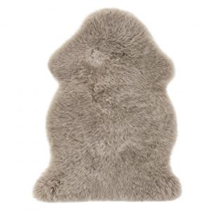 Sheepskin Taupe Rug by Luxor Living