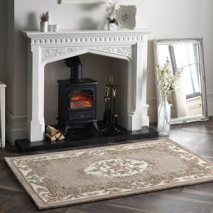 Shensi Beige Traditional Wool Rug by Origins