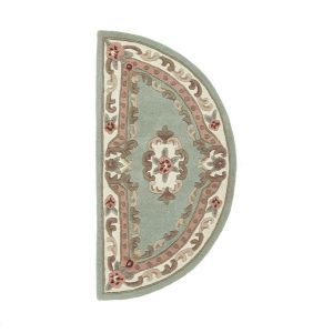 Shensi Green Traditional Halfmoon Rug by Rug Guru