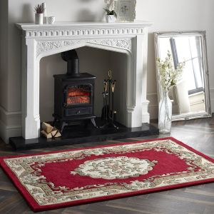 Shensi Wine Traditional Wool Rug by Origins
