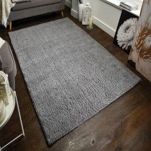 Sherwood Darwin Grey Plain Wool Rug by Flair Rugs