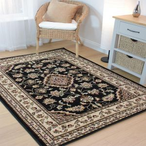 Sincerity Sherborne Black Traditional Rug By Flair Rugs