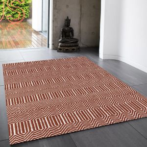 Sloan Marsala Geometric Rug By Asiatic 1