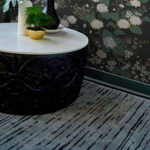Slub Charcoal 039405 Wool Rug by Florence Broadhurst