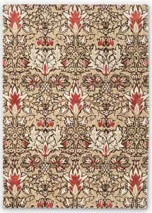 Snakeshead 127200 Chocolate Spice Floral Rug by Morris & CO.