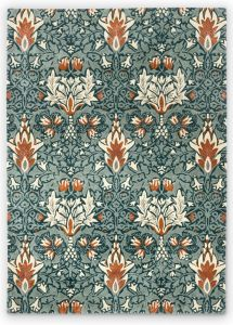 Snakeshead 127207 Thistle Russet Floral Rug by Morris & CO.