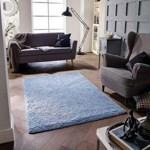 Softness Denim Blue Plain Rug by Oriental Weavers
