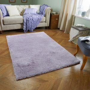 Softness Lilac Plain Rug by Oriental Weavers