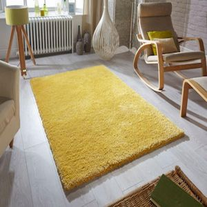 Softness Mustard Plain Rug By Oriental Weavers 1