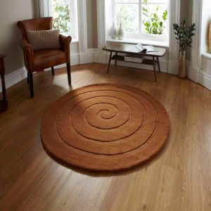 Spiral Brown Rug By Think Rugs