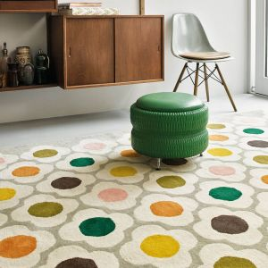 Spot Flower 060404 Multi Wool Rug by Orla Kiely