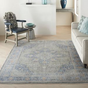 Starry Nights STN07  Blue Rug by Nourison