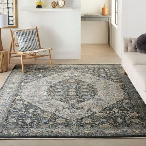 Starry Nights STN11 Grey/Blue Rug by Nourison