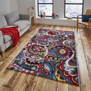 Sunrise Y583A Multi Abstract Rug By Think Rugs