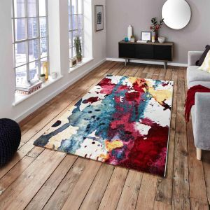 Sunrise 9349A Multi-coloured Designer Rug by Think Rugs 1