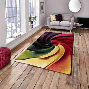 Sunrise Y498A Multi-coloured Designer Rug by Think Rugs 1