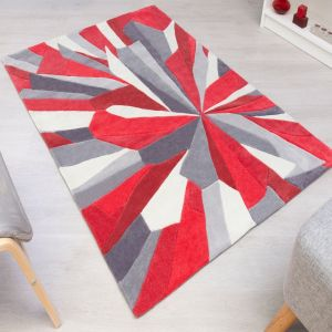 Tampa Daytona Red Rug by Flair Rugs