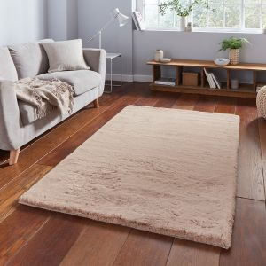 Teddy Mink Plain Shaggy Rug by Think Rugs