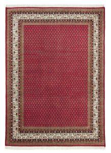 Theko Chandi Mir Red/Cream Classic Wool Circle Rug