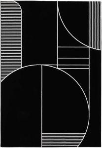 Tiago 46314/AF900 Black Geometric Rug by Mastercraft