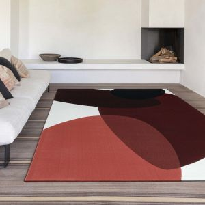 Tiago 47001/AF101 Terracotta Abstract Rug by Mastercraft