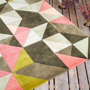 Tielles Rose Handtufted Wool Rug by Claire Gaudion