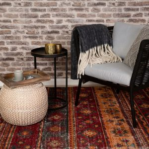 Tilas TIL 241 Red Traditional Rug by Obsession